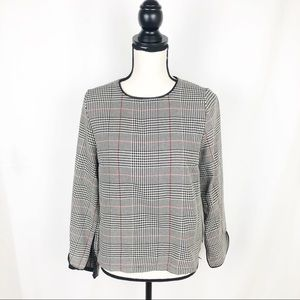 NWT Zara Basic Collection Houndstooth Top